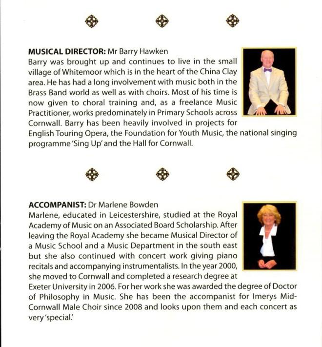 Imerys Mid-Cornwall Male Choir